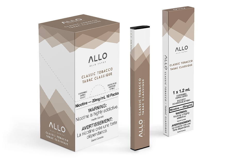 Allo Bar Classic Tobacco Disposable Vape by Allo Vapor Review